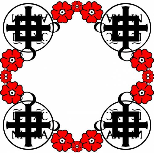 Red Flowers N Crosses