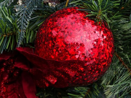 Red Glittering Bauble