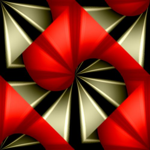 Red Gold Abstract Seamless Tile