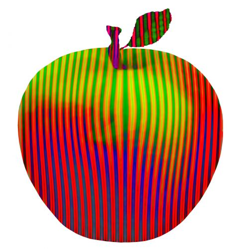 Red Green Striped Apple