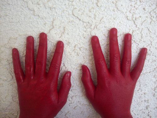 red hand red handed red