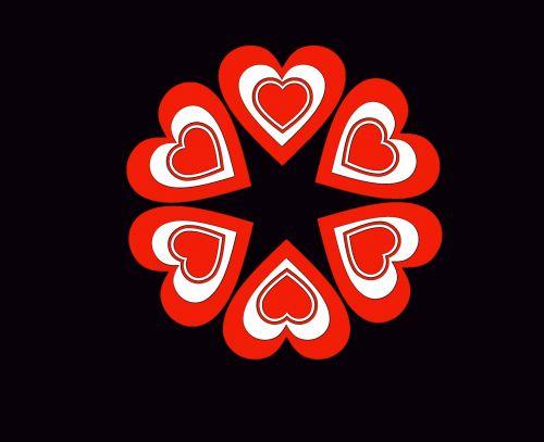 širdis, raudona, juoda, ratas, apvalus, Valentino diena & nbsp, valentines, meilė, balta, šventė, atostogos, popierius, iškarpų albumas, raudonos širdies juodos spalvos fonas