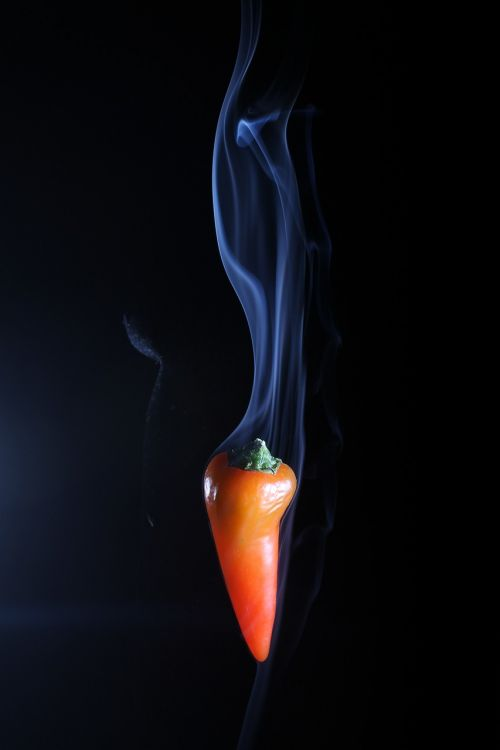 red hot chilli smoking chilli hot food