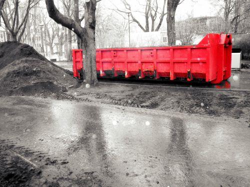 Red Industrial Bin