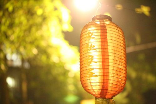 red lantern light night