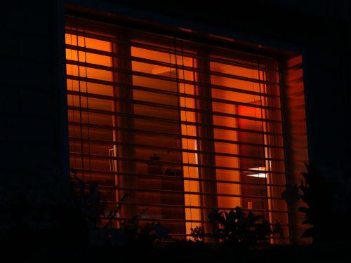 red light window dusk