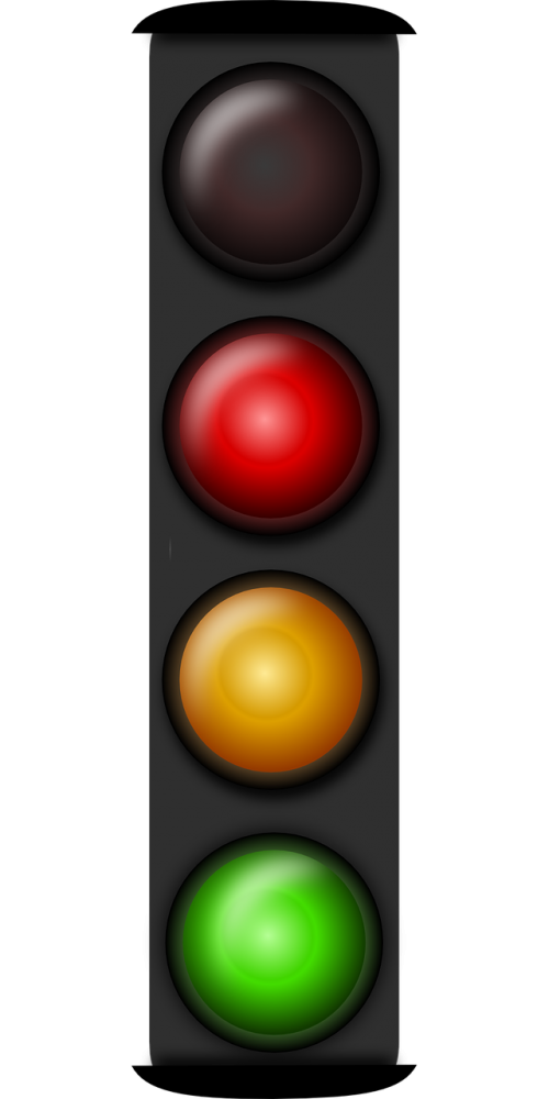 red-lights pattern road traffic