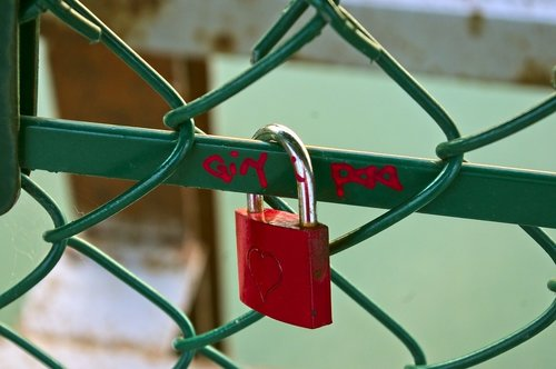 red love lock  love  padlock