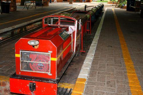 Red Model Train Engine