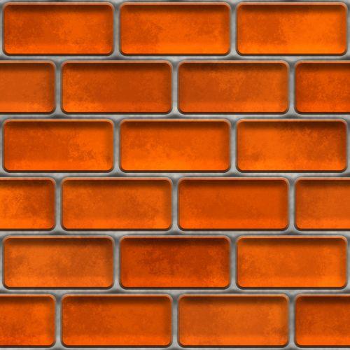 Red Orange Brick Wall