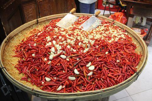 red pepper festive garlic