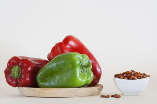 red peppers green bell pepper chili pepper