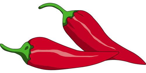 red peppers chilli hot