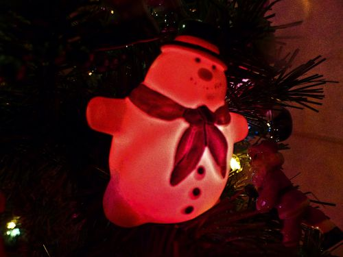 Red Puffy Snowman