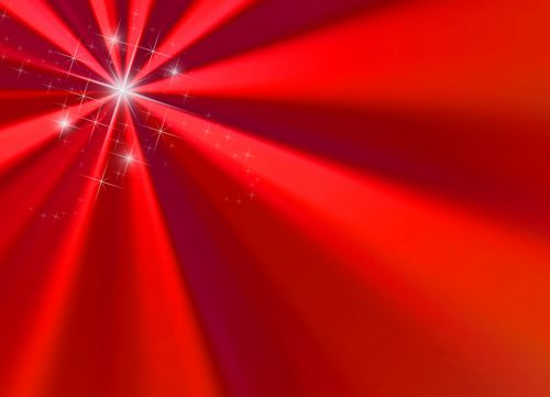 Red Ray Starburst With Pixie Dust