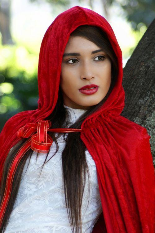 red riding hood girl hood