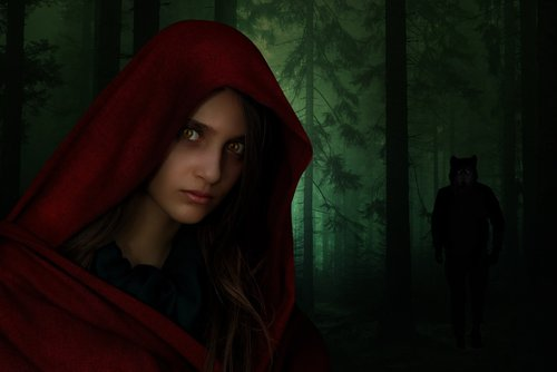 red riding hood  woman  girl