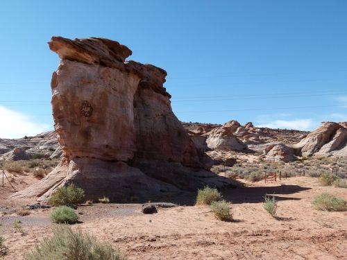 red rock sandstone erosion hot