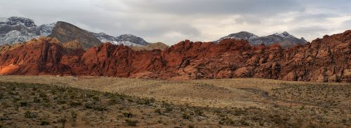 red rock mountains panorama