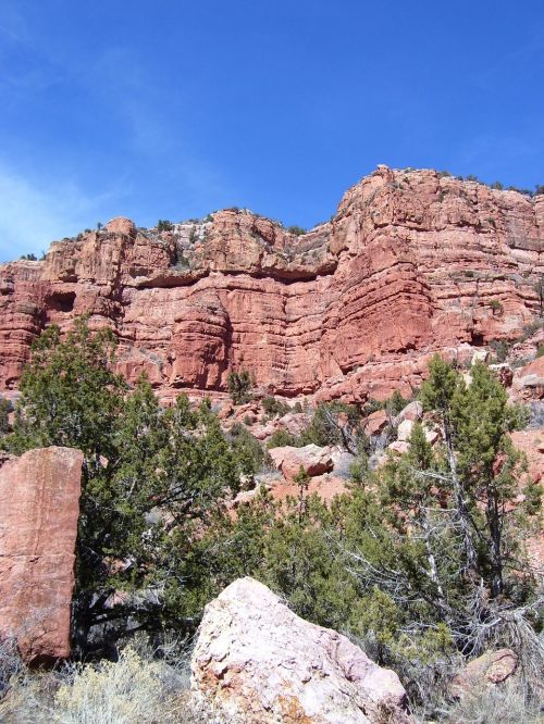 red rocks red canyon red cliffs