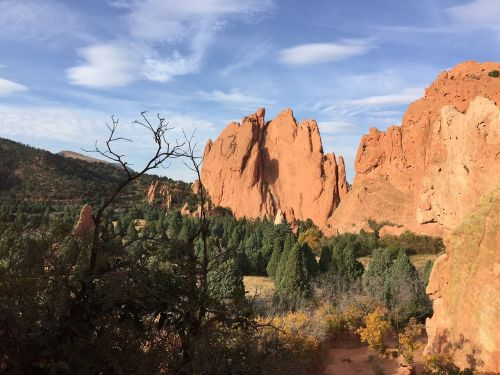 red rocks landscape stone