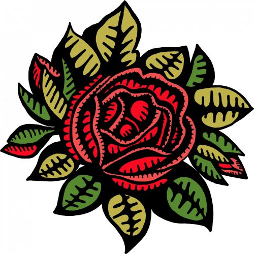 Red Rose Drawing