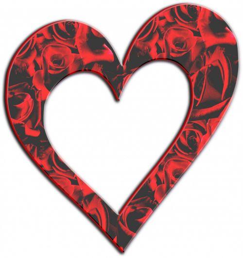 Red Roses Heart Frame