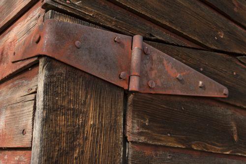 Red Rusty Door Hinge