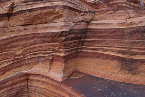 red sandstone layered eroded