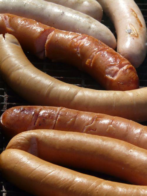 red sausage sausage barbecue