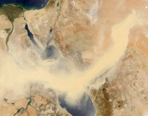 red sea egypt sandstorm