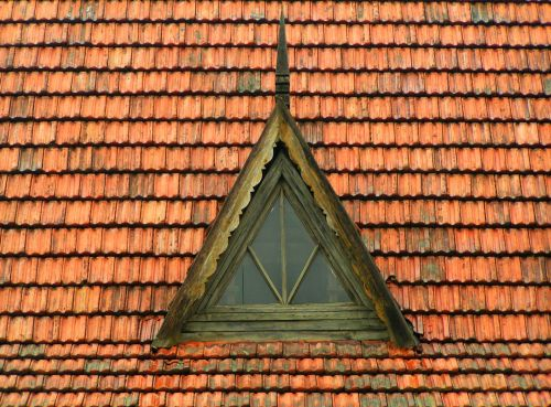 Red Shingle Roof
