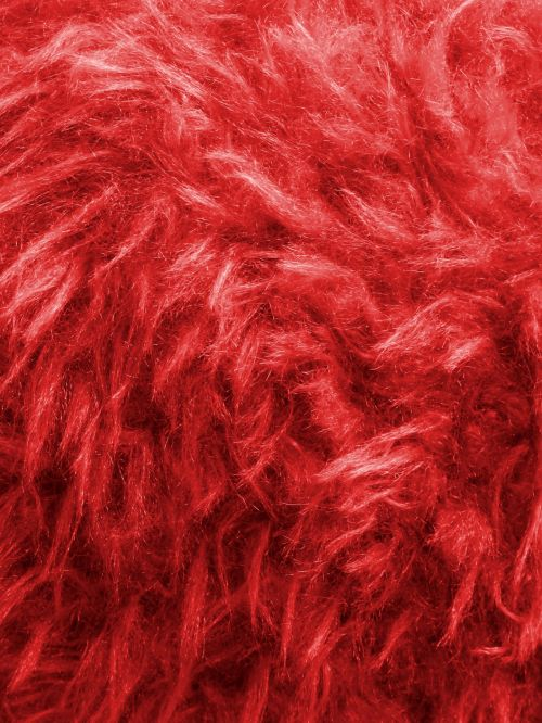 Red Thick Furry Background