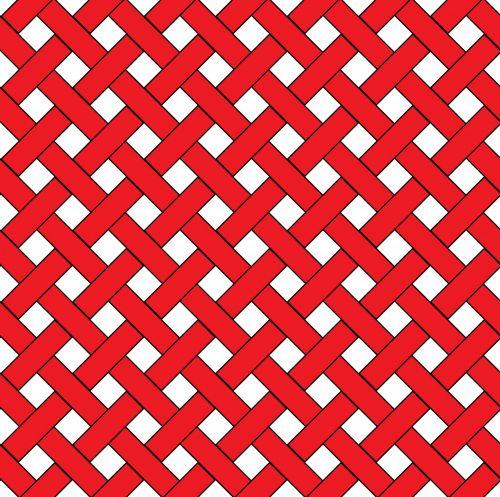 Red Weave Wicker Pattern
