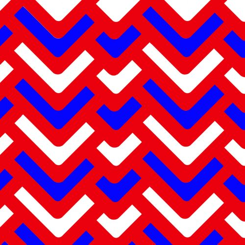 Red White And Blue Shape Abstract