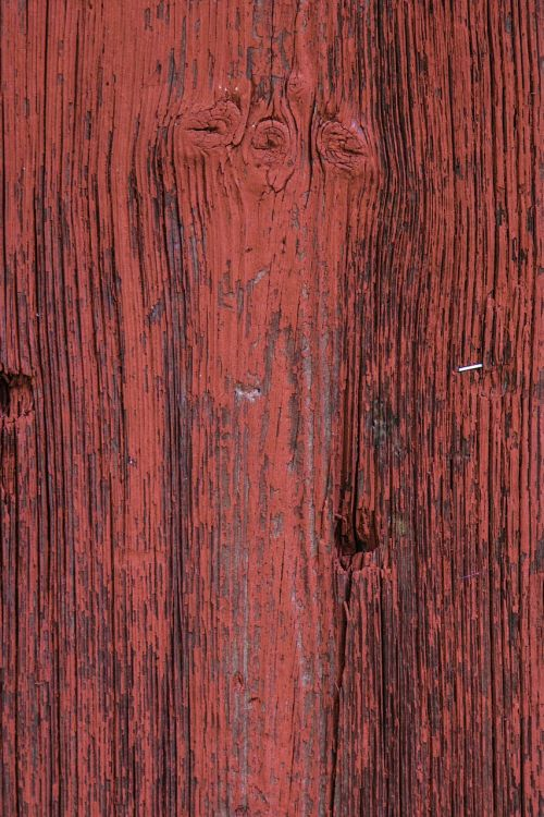 red wood paint plank closeup