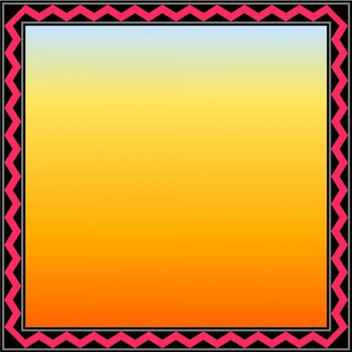 Red Zigzag Frame
