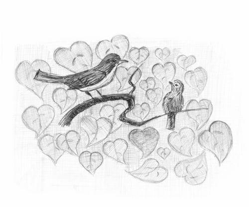 Redstart With Nestling