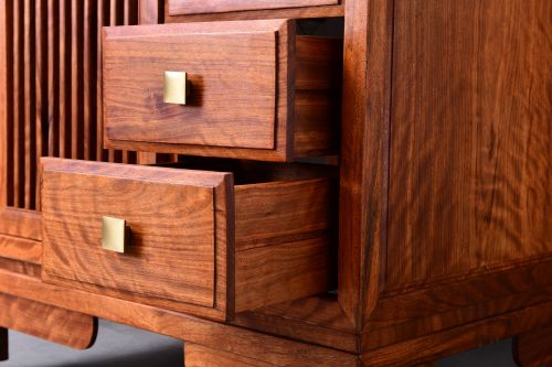 redwood bathroom cabinet chinese style
