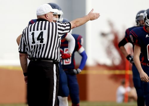 referee football referee first down