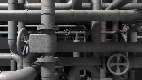 refinery refining pipes