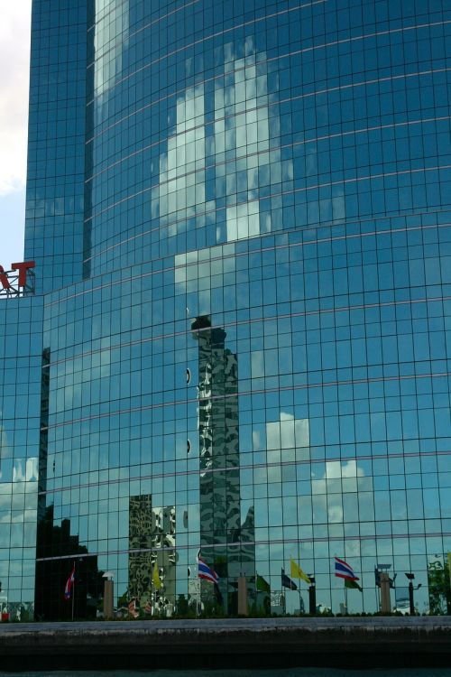 reflection window sky