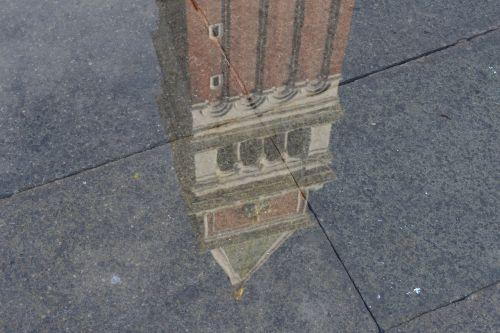 reflection water campanile