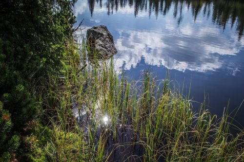 reflection clouds nature