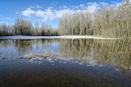reflection  water  landscape