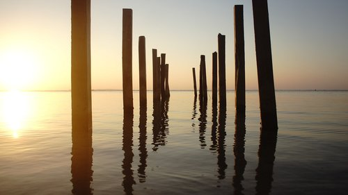 reflection  sunset  beach