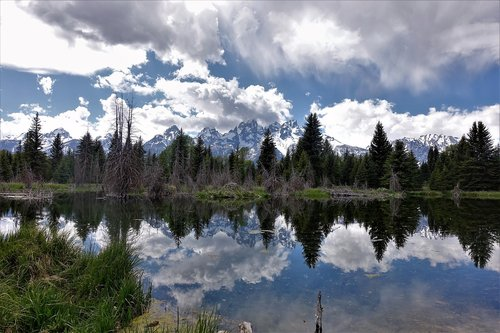 reflections  wyoming  hiking
