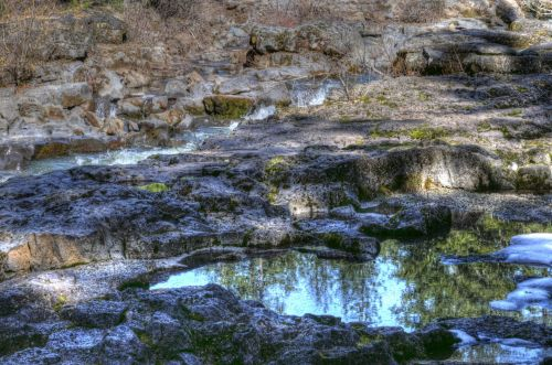 Reflective Pools Of Water