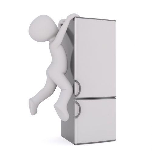 refrigerator white male 3d model