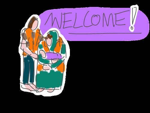 refugees welcome life jacket
